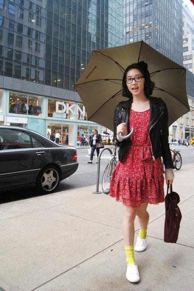 vintage jacket - H&M dress - American Apparel socks - Prada purse