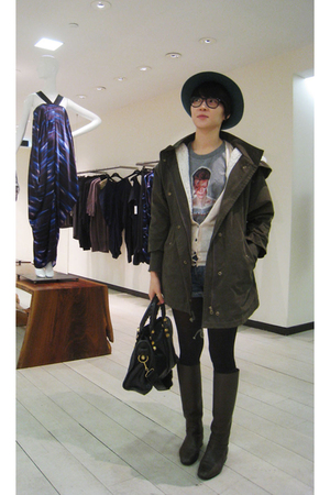 Levis shorts - Dolce&amp;Gabbana t-shirt - from Korea jacket - Bottega Veneta boots 