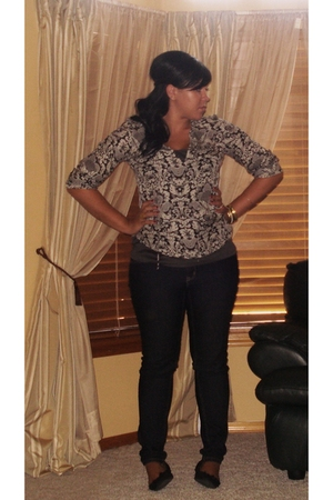 blouse - jeans - H&M bracelet - Payless Brand shoes