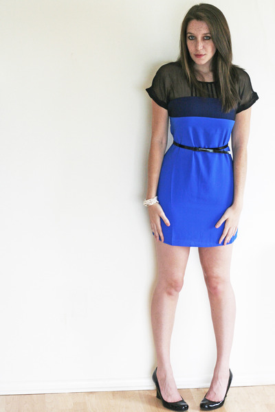 blue Sugarlips Apparel dress - black patent Worthington wedges