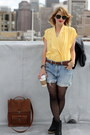 Light-blue-denim-vintage-shorts-black-heart-hue-tights