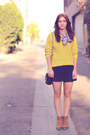 Mustard-knit-forever21-sweater-violet-floral-tie-lady-la-mode-vintage-top