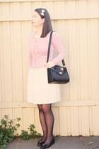 white lace Review dress - black heart print asos stockings - light purple Alanna