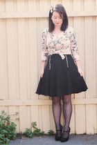 heart print asos tights - floral Wheels and Dollbaby cardigan - full Alannah Hil