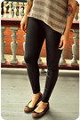 Black-leatherette-american-apparel-leggings-dark-brown-tortoise-shell-forever-