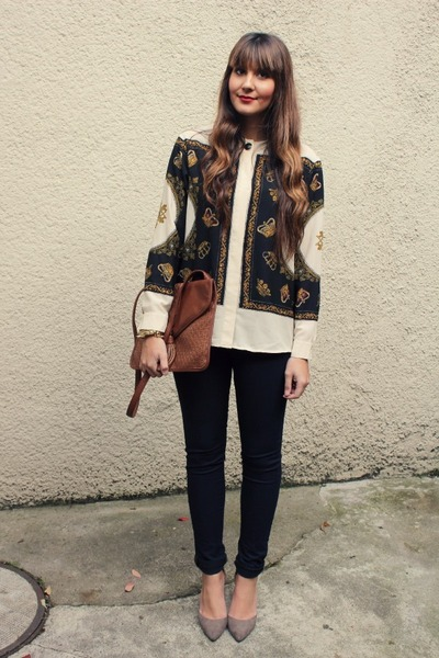 asos blouse - Springfield bag