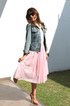 denim Bershka jacket - bubble gum united colors of benetton pumps