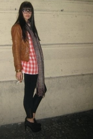 Levis jacket - shirt - American Apparel leggings - LAMB shoes - a peace treaty s