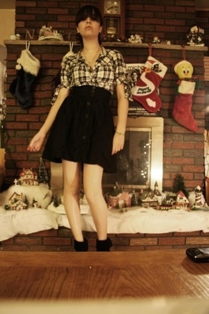Old Navy shirt - H&M skirt - Wild Pair shoes - f21 accessories