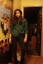 H&M shirt - f21 jeans - Nine West boots - H&M accessories