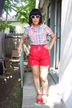 red Pins & Needles shorts - rainbow plaid Luella Bartley x Target shirt