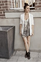 beige Buffalo David Bitton top - black Aldo shoes - off white H&M blazer