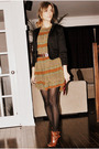 Black-sirens-blazer-brown-ebay-dress-black-ardene-stockings-brown-aldo-boo