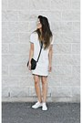 White-oasap-dress-white-oasap-sneakers