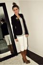 Black-sirens-blazer-gray-h-m-top-white-costa-blanca-jeans-brown-aldo-boots