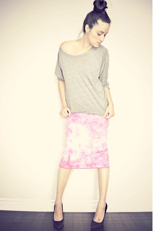 bubble gum tie-dye pencil Buffalo David Bitton skirt