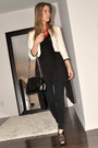 White-h-m-blazer-black-h-m-top-black-american-apparel-leggings-black-aldo-