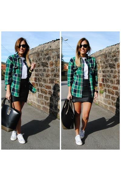 o clock watch - lzl shirt - leztin street sunglasses - Vans sunglasses
