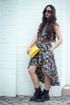 La Petite Marmoset dress - doc martens boots - Violet Boutique bag