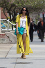 Camel-asos-boots-yellow-vintage-dress-turquoise-blue-violet-boutique-bag