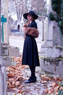 Navy-thrifted-vintage-boots-black-vintage-hat-black-target-tights