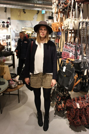 acne boots - COS jacket - Sparkle and Fade shorts