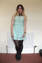 lace mint Primark dress