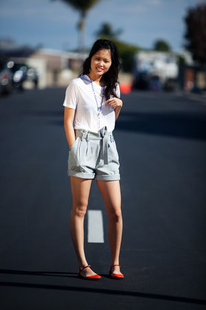Zara shoes - Alexander Wang top - JCrew shoes