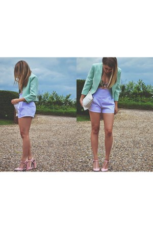 aquamarine new look blazer - light pink pink heels Zara heels