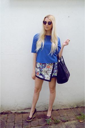 River Island skirt - Celine bag - new look wedges - new look top