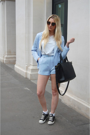 Zara bag - Converse sneakers - Missguided suit