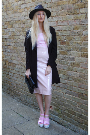 Missguided skirt - Missguided dress - inlovewithfashion coat - Boohoo hat