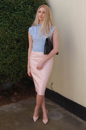 Missguided skirt - And Other Stories bag - whistles heels - OASAP top