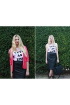Missguided blazer - cage city vest - new look skirt
