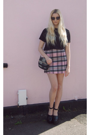 new look skirt - asos bag - asos top - River Island heels