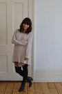 Monki-dress-sacha-boots-monki-sweater-h-m-necklace