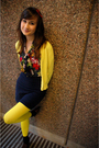 Yellow-old-navy-cardigan-blue-forever21-skirt-blue-thrifted-blouse-yellow-