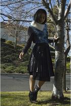 blue PROENZA SCHOULER t-shirt - black Sara Lanzi skirt - white hand knit accesso