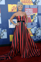 red black  red dress