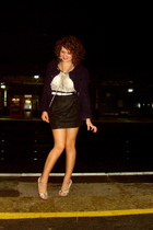 asos skirt - Topshop shoes - vintage jacket