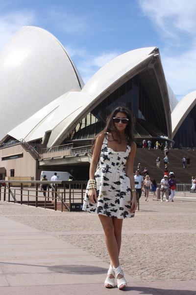 white Twinkle By Wenlan dress - white Zara shoes - white Dotti sunglasses