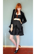 Black-leather-lace-and-velvet-skirt-black-proenza-schouler-for-target-swimwear