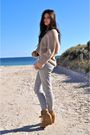 Gray-topshop-pants-ebay-shoes-just-jeans-sweater
