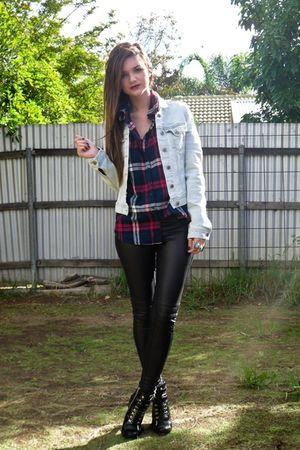 black MinkPink pants - black zu shoes