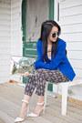Zara-blazer-forever-21-pants-talula-top-stradivarius-heels