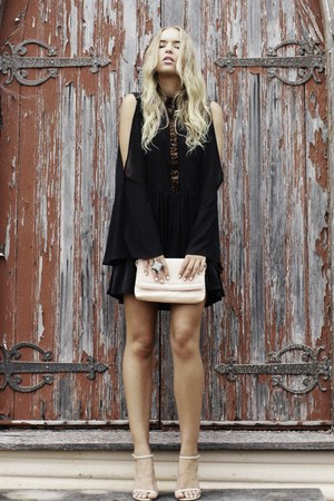black August Street dress - eggshell tony bianco heels