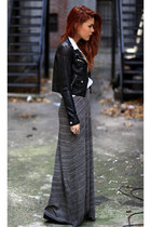 gray alainnbell skirt - black second hand H&M jacket - ivory vintage blouse