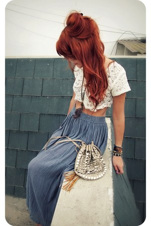 Forever 21 bag - vintage skirt - Forever 21 necklace