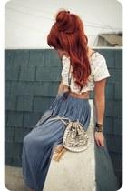 Forever 21 bag - vintage skirt - Forever 21 necklace