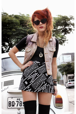 black paolalovestoshop sunglasses - light purple vintage vest - black Hallelu sk